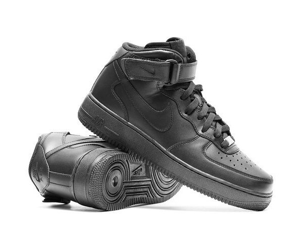 Nike Air Force 1 Mid '07 черные